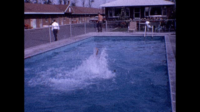 1961 niagara falls trip - backstroke stock videos & royalty-free footage