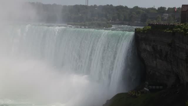 cascate del niagara - fiume niagara video stock e b–roll