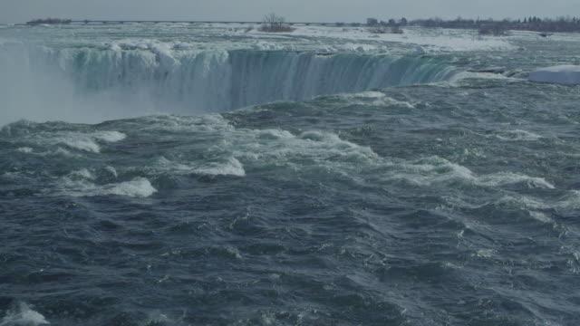 niagara falls - horseshoe falls niagara falls stock videos and b-roll footage