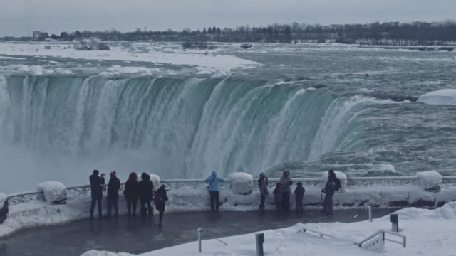 niagara falls - frozen stock videos & royalty-free footage