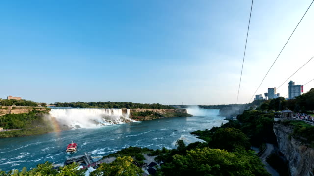 niagara falls view - niagara falls stock videos & royalty-free footage