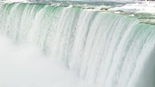 niagara falls waterfall from aerial drone - niagara falls stock videos and b-roll footage