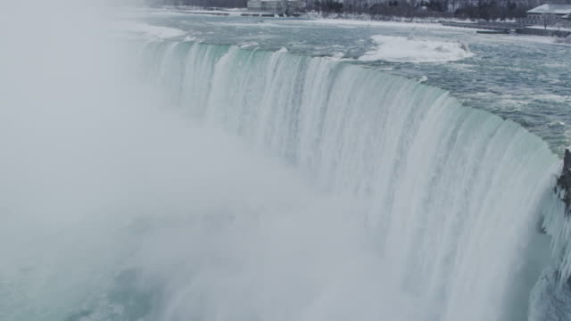 Niagara Falls Waterfall in Winter (Super Slow Motion)