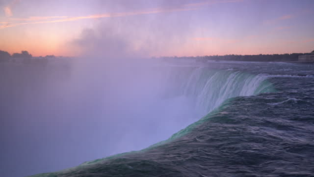 niagara falls waterfall view from ontario in canada - niagara falls stock videos and b-roll footage