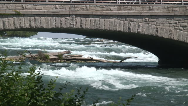 niagara river 3 bis 11: / hd 1080 60i - fluss niagara river stock-videos und b-roll-filmmaterial