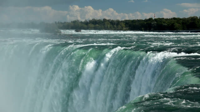 niagara river and horseshoe falls - horseshoe falls niagara falls stock videos and b-roll footage