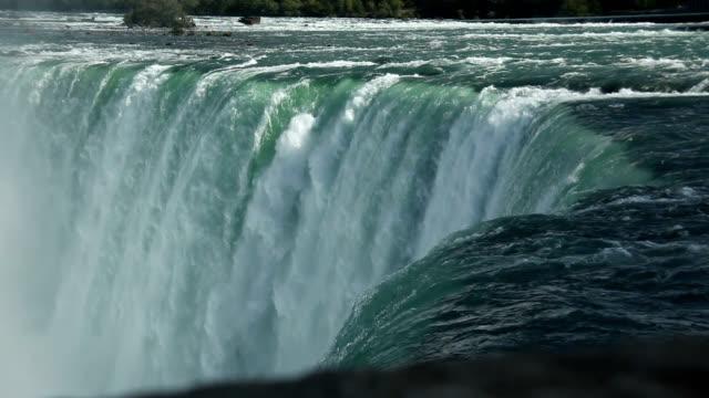 niagara river and horseshoe falls - river niagara stock videos & royalty-free footage