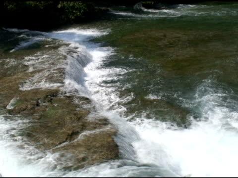 niagara upper rapids 10 - ntsc with sound - river niagara stock videos & royalty-free footage