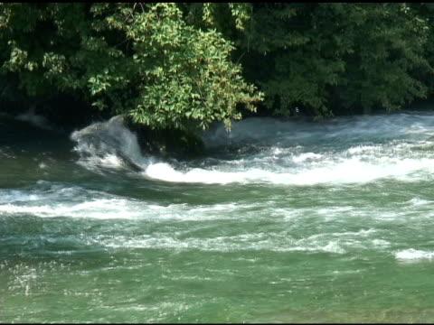 niagara upper rapids 18 - ntsc with sound - river niagara stock videos & royalty-free footage