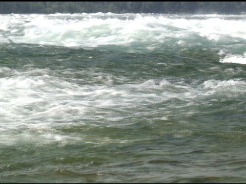niagara upper rapids 24 - ntsc with sound - river niagara stock videos & royalty-free footage