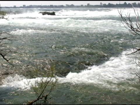 niagara upper rapids 25 - ntsc with sound - river niagara stock videos & royalty-free footage