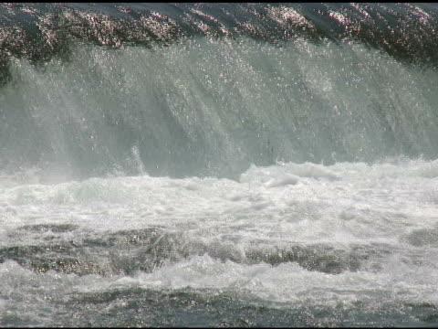 niagara upper rapids 29 - ntsc with sound - river niagara stock videos & royalty-free footage