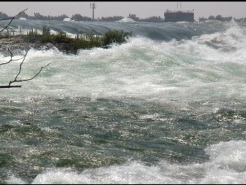 niagara upper rapids 35-ntsc - fluss niagara river stock-videos und b-roll-filmmaterial