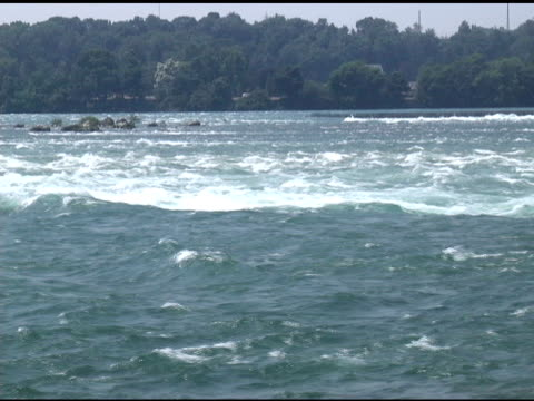 niagara upper rapids 47 - ntsc - river niagara stock videos & royalty-free footage