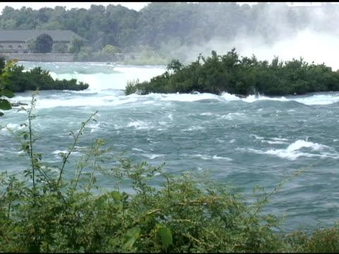 niagara upper rapids 53 - ntsc with sound - river niagara stock videos & royalty-free footage