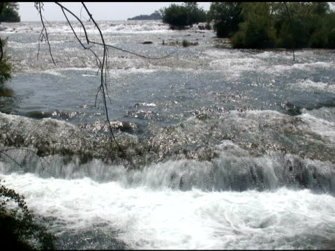 niagara upper rapids 9 - ntsc - named wilderness area stock videos & royalty-free footage