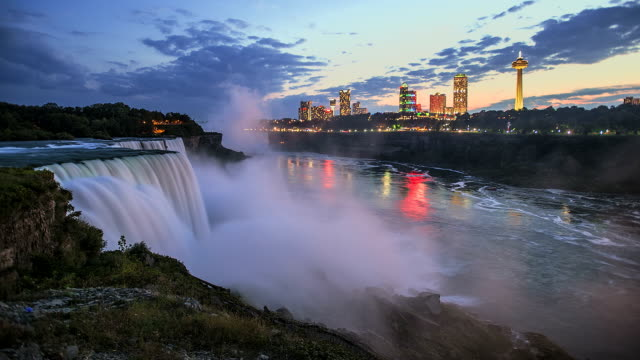 niagra falls time lapse - niagara falls stock videos and b-roll footage