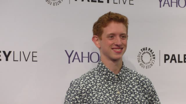niall cunningham at the paleylive an evening with life in pieces at the paley center for media in beverly hills at celebrity sightings in los angeles... - paley center for media los angeles stock videos & royalty-free footage