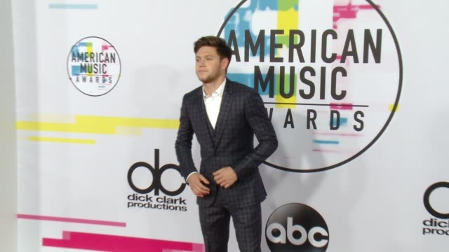 niall horan at 2017 american music awards on november 19 2017 in los angeles california - american music awards video stock e b–roll