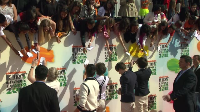 Niall Horan Zayn Malik Liam Payne Louis Tomlinson and Harry Styles of One Direction at Nickelodeon's 25th Annual Kids' Choice Awards on 3/31/2012 in...