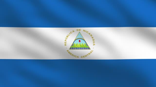 nicaragua flag - managua stock videos & royalty-free footage
