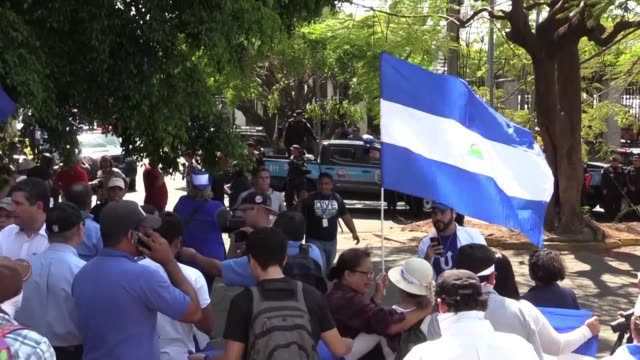 nicaragua has been gripped by a year of political crisis since months of anti government street protests erupted last april leaving more than 325... - nicaragua stock videos & royalty-free footage