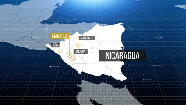 nicaragua map - nicaragua stock videos and b-roll footage