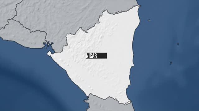 ニカラグアマップズーム - ニカラグア点の映像素材/bロール