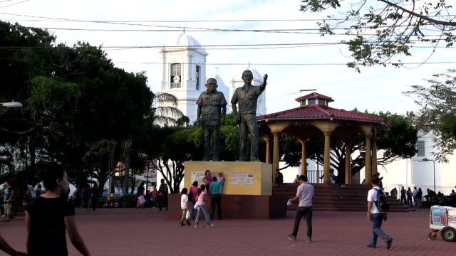 nicaragua, matagalpa, view of the central square - nicaragua stock videos & royalty-free footage