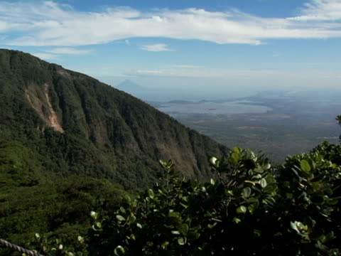 ws, nicaragua, volcan mombacho natural park, volcano and lake nicaragua - nicaragua stock videos and b-roll footage