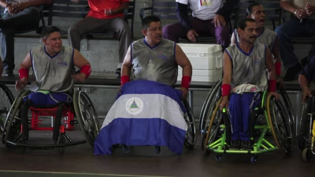 nicaragua won the central american and caribbean wheelchair basketball championship wining the final game against panama by 61 to 45. managua,... - managua stock videos & royalty-free footage