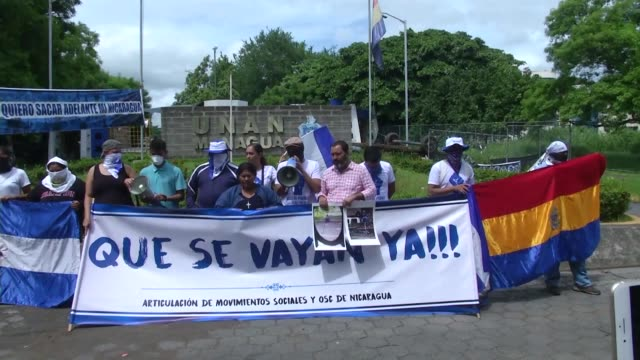 nicaraguan civic and student groups say they will continue to protest in many cities including the capital managua and support the country's right to... - managua stock videos & royalty-free footage
