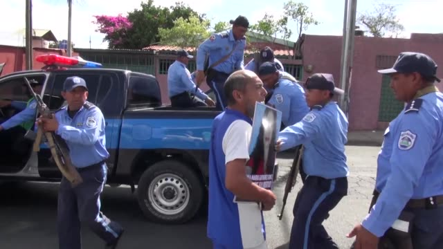 nicaraguan marathon runner alex vanegas who was just released from prison where he was kept as a political prisoner is temporarily detained for... - political prisoner stock videos & royalty-free footage