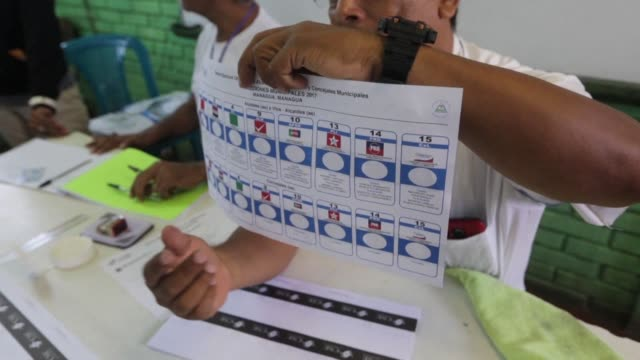 Nicaraguans head to the polls in Managua to vote in municipal elections