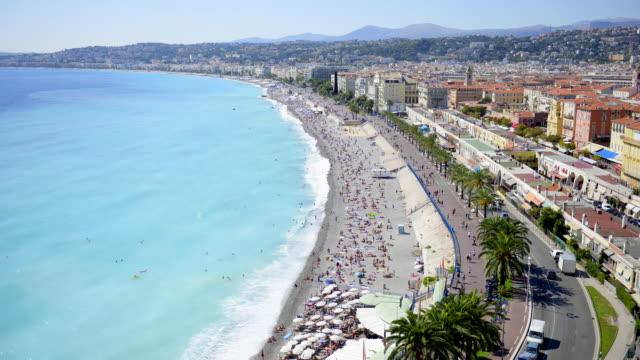 Nice beach time-lapse, Nice, France