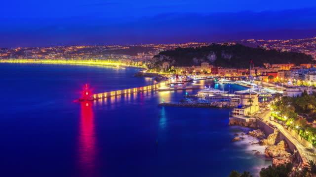 Nice stadsbilden på twiligt time