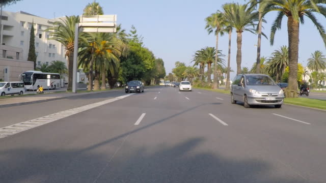 nice rear driving pov - 乗物後部から見た視点点の映像素材/bロール