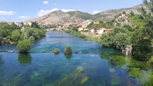 nice view of the river, trebinje - serbia stock videos & royalty-free footage