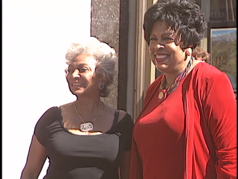 nichelle nichols at the linda hopkins walk of fame star at hollywood in hollywood ca - walk of fame stock videos & royalty-free footage