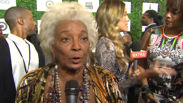 interview nichelle nichols on the importance of the event at the 7th annual essence black women in hollywood luncheon at beverly hills hotel on... - beverly hills hotel stock videos and b-roll footage
