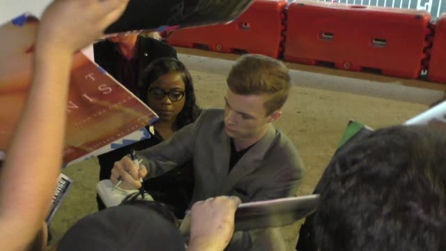 nicholas hamilton outside the it 2 premiere at bruin theatre in westwood in celebrity sightings in los angeles - bruin theater stock videos & royalty-free footage