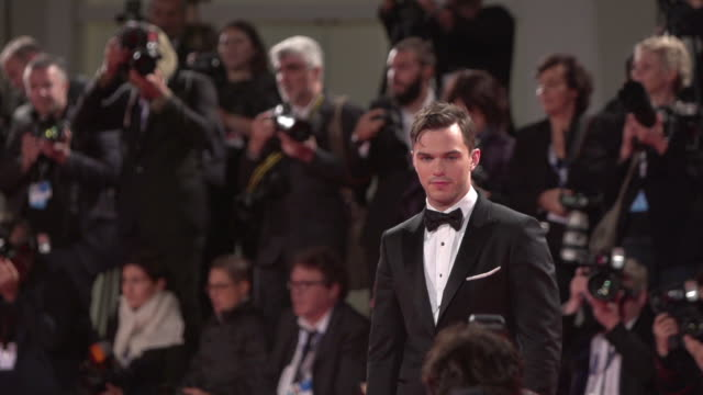 SLOMO Nicholas Hoult at 'Equals' Red Carpet 72nd Venice Film Festival at Palazzo del Cinema on September 05 2015 in Venice Italy