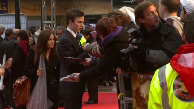 nicholas hoult at the the clash of the titans at london england - clash of the titans stock videos & royalty-free footage