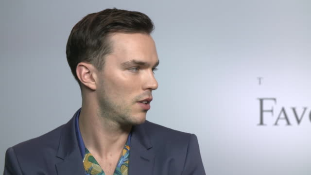 INTERVIEW Nicholas Hoult on female friendships between the main female characters at 'The Favourite' interviews at the 75th Venice International Film...