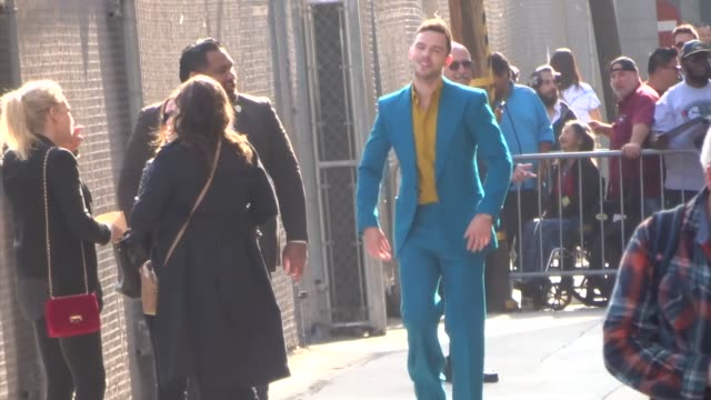 nicholas hoult signs for fans outside jimmy kimmel live at el capitan theatre in hollywood in celebrity sightings in los angeles, - el capitan theatre stock videos & royalty-free footage