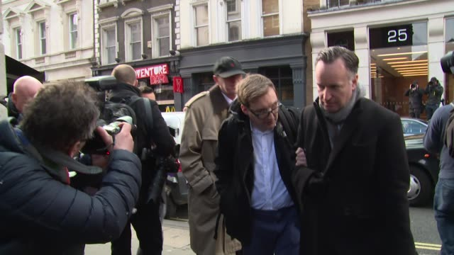 nicholas lyndhurst at the funeral of roger lloyd pack held at st paul's church, covent garden. - nicholas lyndhurst stock videos & royalty-free footage