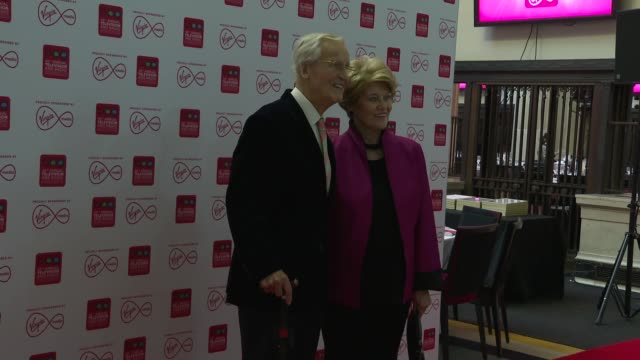 nicholas parsons, ann reynolds at 45th annual bpg awards, sponsored by virgin media on march 15, 2019 in london, united kingdom. - nicholas parsons stock videos & royalty-free footage