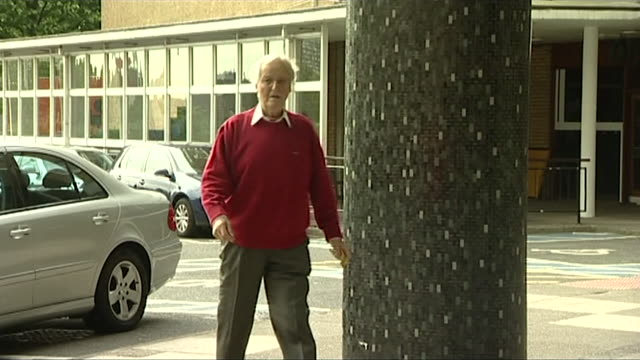 nicholas parsons walking into bbc television centre, 2011 - nicholas parsons stock videos & royalty-free footage