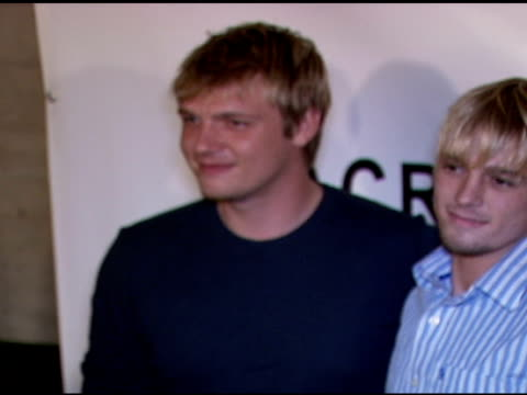 Nick and Aaron Carter at the 'Across The Hall' Premiere at the Museum of Television and Radio in Beverly Hills California on June 24 2006