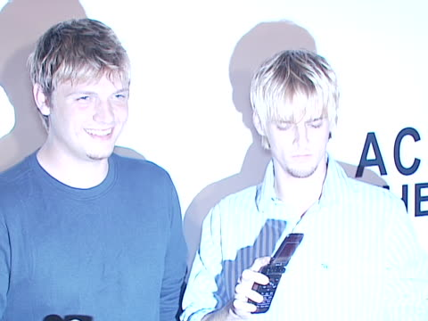 Nick and Aaron Carter at the Premiere of Across The Hall at Museum of Radio and Television in Beverly Hills Ca